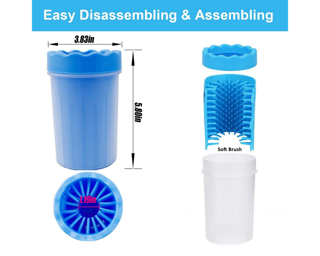 Portable Dog Paw Cleaner Pet Paw Cleaning Cup
