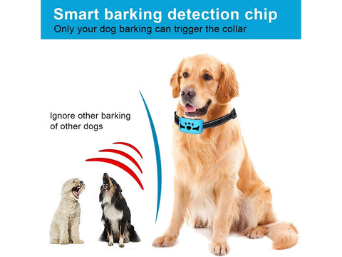 Dog Rechargeable Anti Bark Collar with Vibration and No Harm