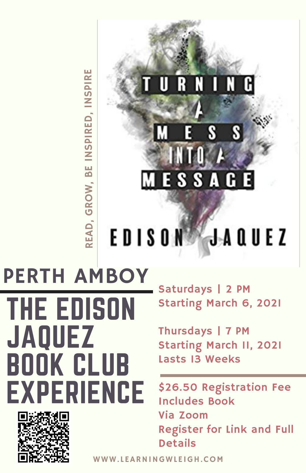 The Edison Jaquez Book Club Experience - Turning a Mess into A Message