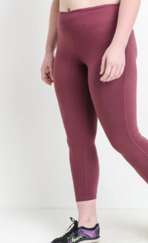 Lattice Strap Leggings- Plus Size