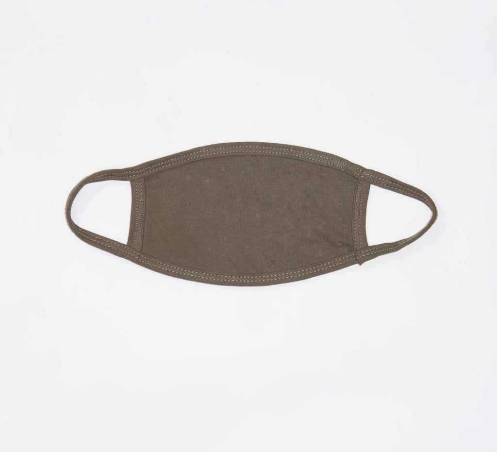 Plain Olive Green Fabric Mask- No Filter