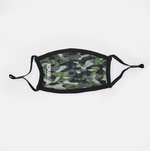 Green Camo Fabric Mask w/ PM2.5 Filter