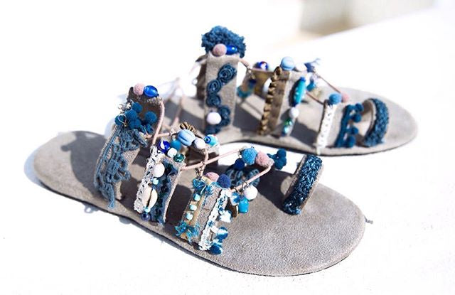 Beaded Shell Sandals