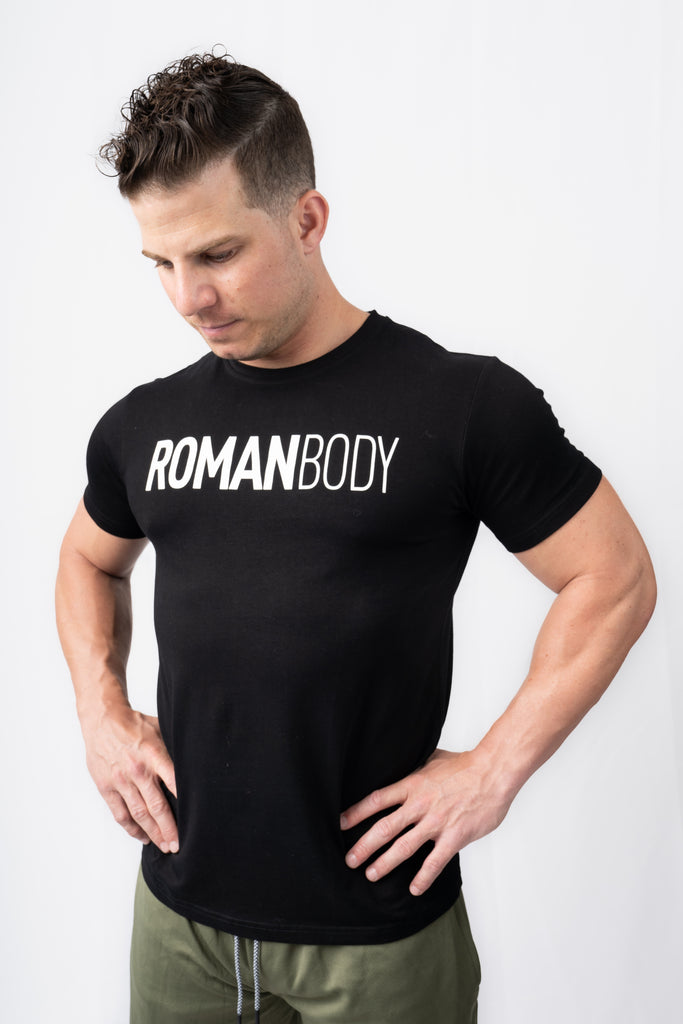 Roman Legacy Fitted T-Shirt- Black