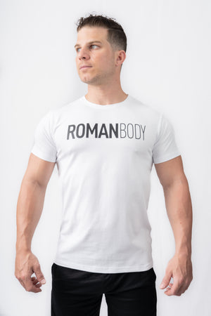 Roman Legacy Fitted T-shirt- White
