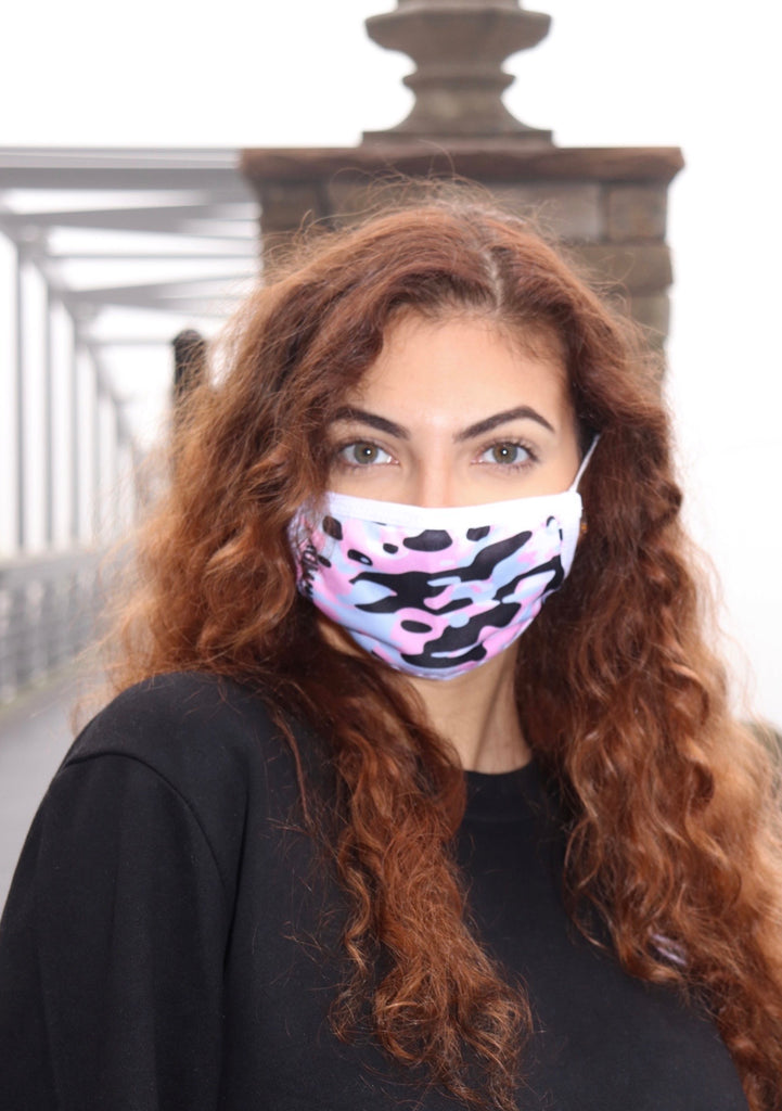 Pink Camo Fabric Mask w/ PM2.5 Filter