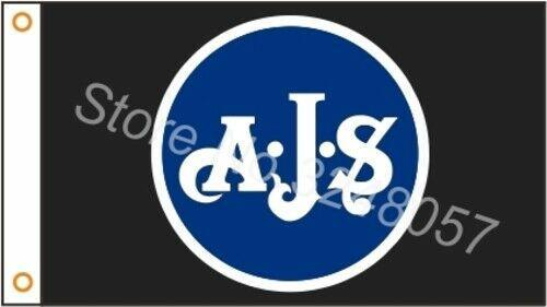 AJS Motorcycles Custom Flag
