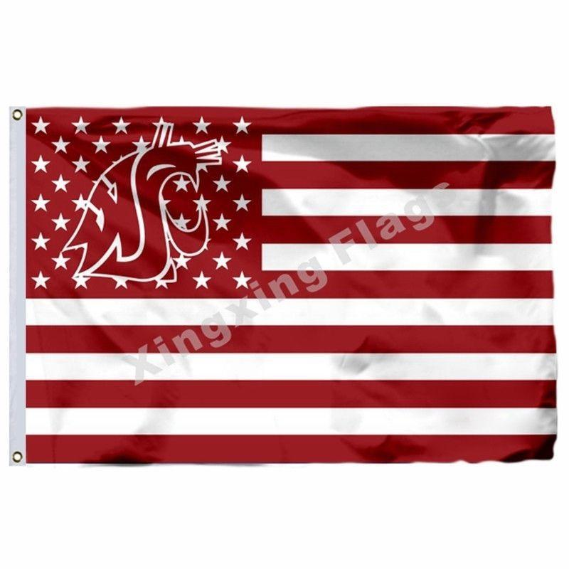 Washington State Cougars Sport Flag