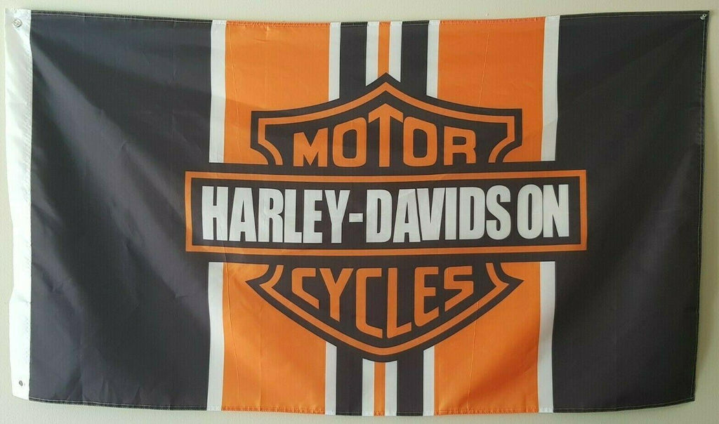 Harley Davidson Motorcycle Custom Flag