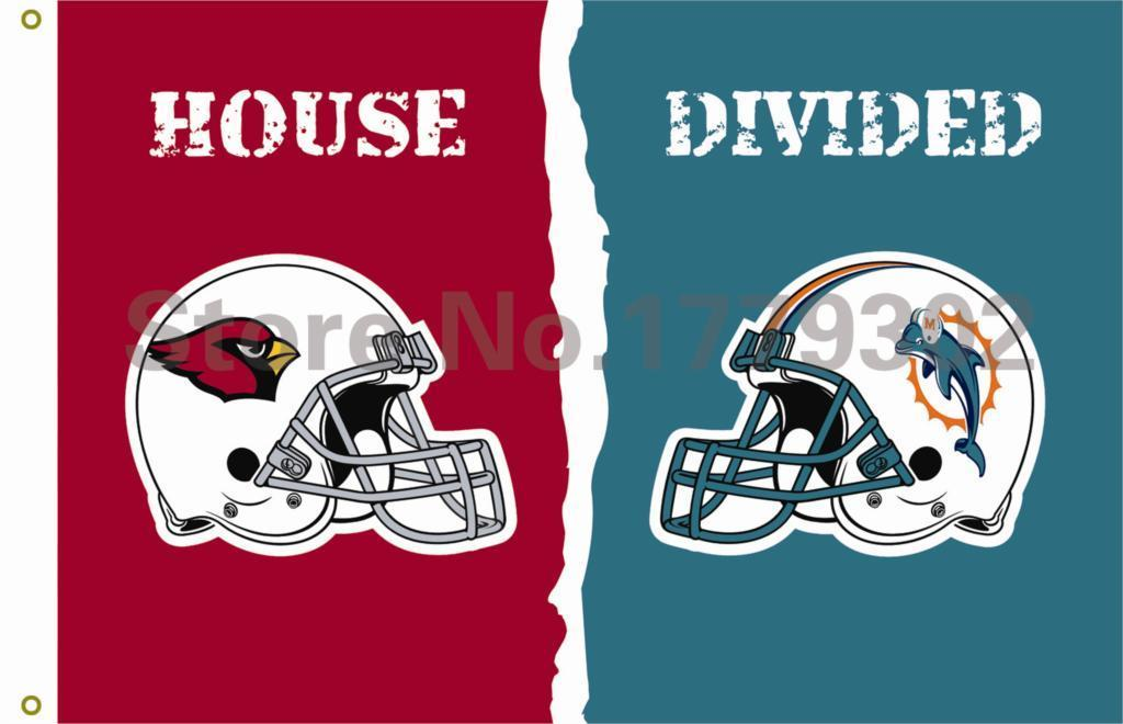 Arizona Cardinals Miami Dolphins Flag