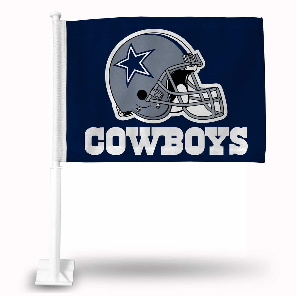 Dallas Cowboys Car Flag 30x45cm with 50cm plastic pole