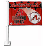 Arizona Diamondbacks Car Flag 30x45cm with 50cm plastic pole