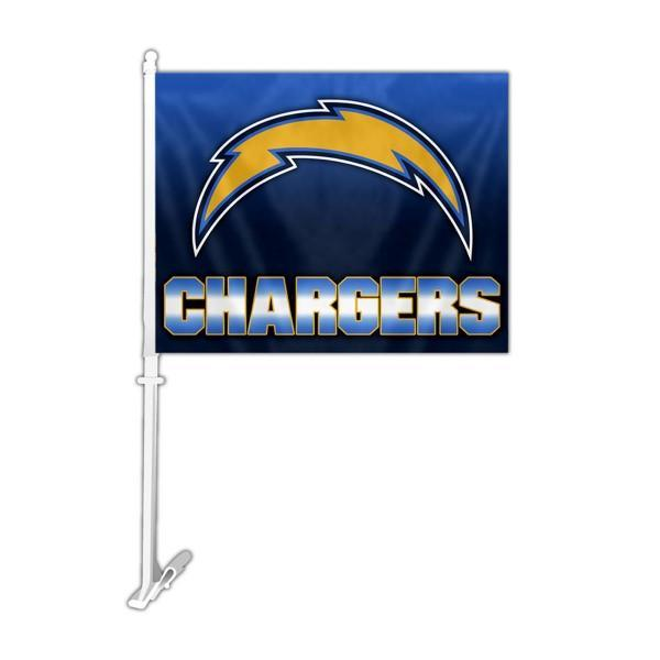 Los Angeles Chargers Car Flag 30x45cm with 50cm plastic pole
