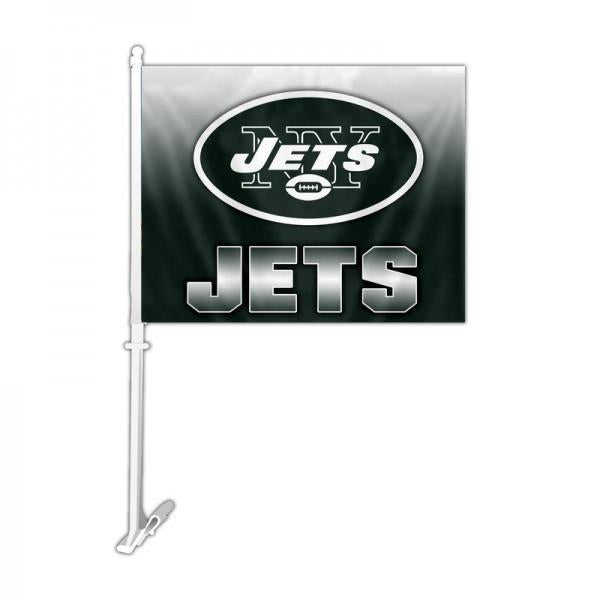 New York Jets Car Flag 30x45cm with 50cm plastic pole