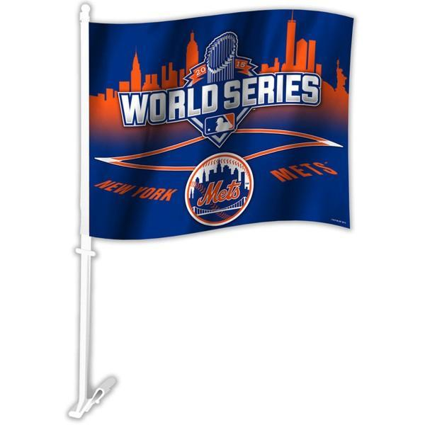 New York Mets Car Flag 30x45cm with 50cm plastic pole