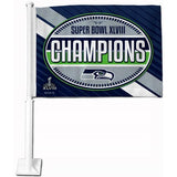 Seattle Seahawks Car Flag 30x45cm with 50cm plastic pole