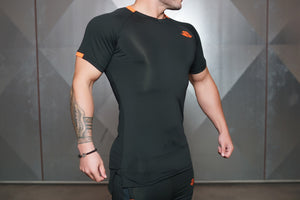 ANAX Performance Shirt – Black & Dutch Orange