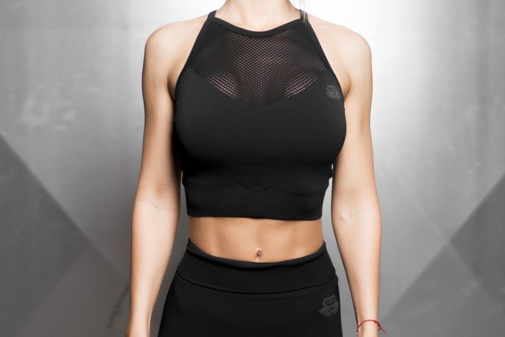 Aurora Seamless Crop Top – BLACK
