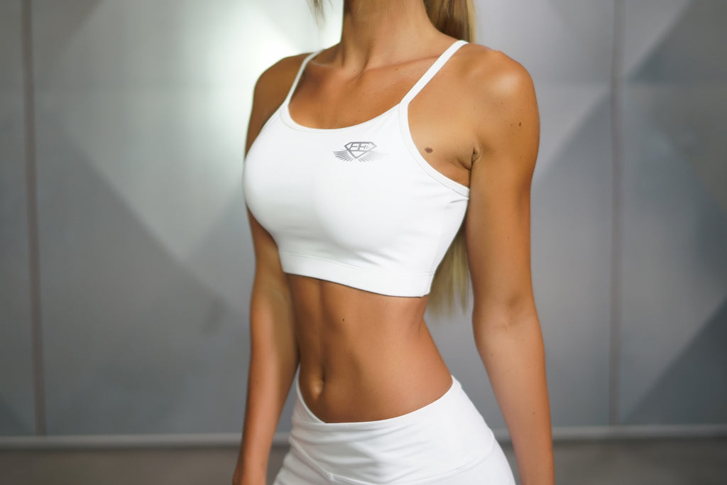 Athena Comfort Crop Top White