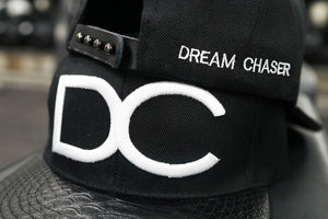 SnapBack DC (Derhúfur) BLack and White Reptile