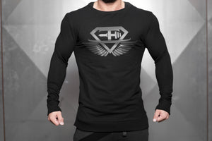 VENOM Loose fit Sweater – BLACK OUT