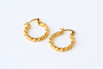 twit hoops earring gold essentials whatnotz.com