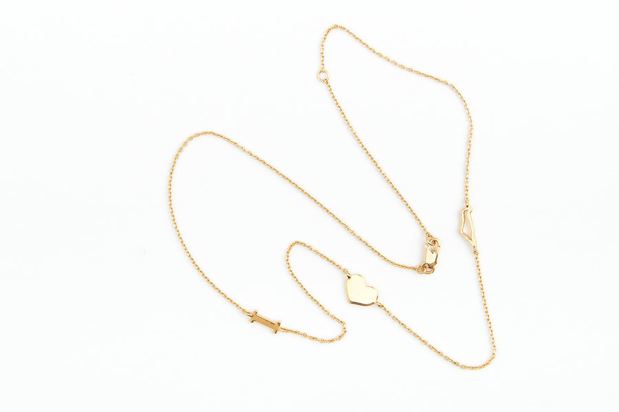 I love Israel necklace in gold vermeil - whatnotz.com