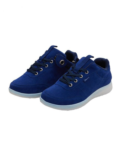 Easy Access Zipper Shoes (Blue)