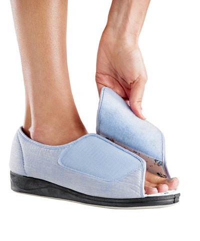 Womens Extra Wide Deep Sandals (Denim)
