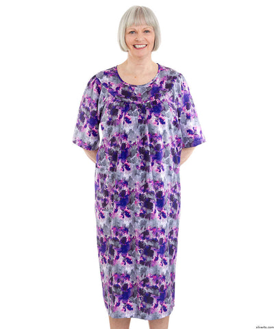 Easy Comfortable Dress (Floral Pink)
