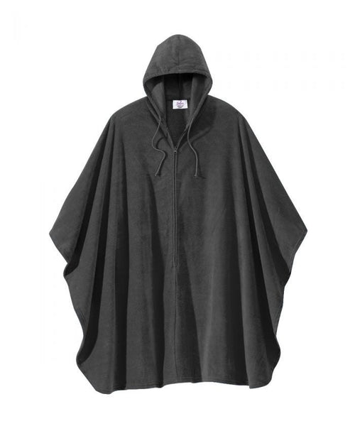 Poncho Fleece Cape (Black)