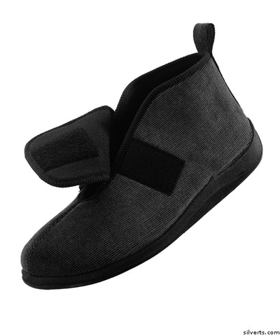 Comfortrite Wide Slippers (Black)