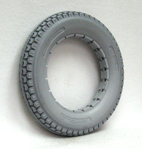 "12 1/2"" x 2 1/4"" Light Gray Knobby Tire"