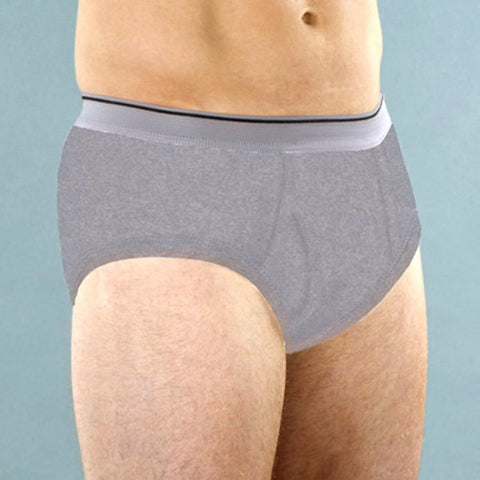 Mens Classic Incontinent Brief (Gray)