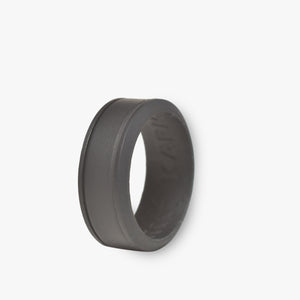 Men's Duo Silicone Ring Jet Black - 3 Color Set