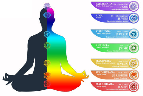 explication 7 chakras yoga zen boutique