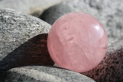 Perle en quartz rose