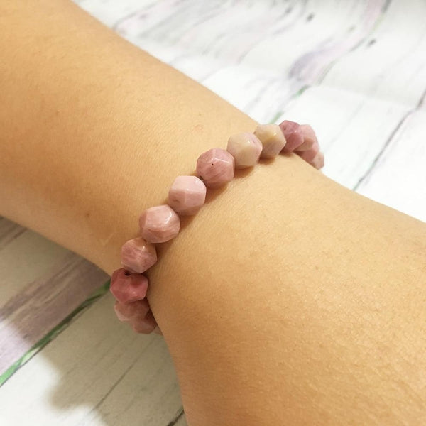 Bracelet en Rhodonite - Pierres Diamant-Yoga Zen Boutique