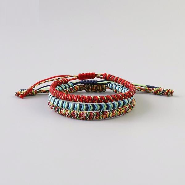 Bracelet Tibétain Multicolore-Yoga Zen Boutique