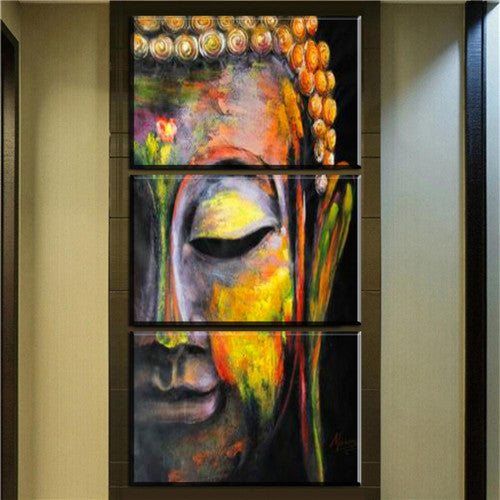 Wall Art 3 Pieces Abstract Modern African Portrait Canvas Oil ...