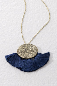 Diva necklace, Blue