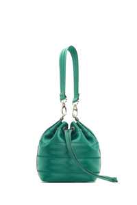 Mini Emerald Green Ju Bucket Bag
