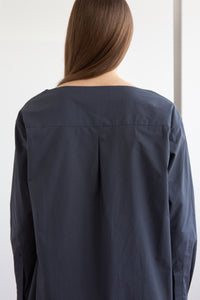 RAFE Collarless Shirt - Slate