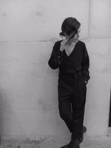 Hoxton Black Long Sleeve Jumpsuit