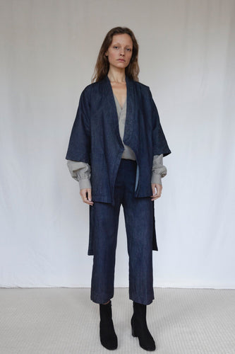 The Marshes Dark Blue Denim Suit
