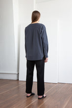 Load image into Gallery viewer, RAFE Collarless Shirt - Slate
