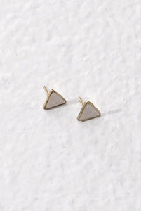 Taarika earrings, white