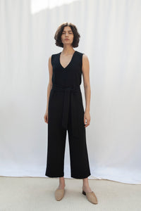 Soho Black Sleeveless Jumpsuit