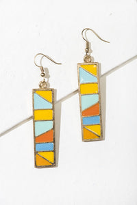 Sunehri Enamel Earrings