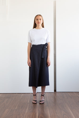 BENJI Denim Wrap Skirt